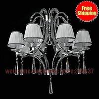 Best sale 8 light Modern living room wrought Iron Chandelier lighting antique Modern iron chandelier fashion lamps