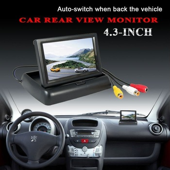 """4.3""""  Folded Car Color Monitor free shipping"""