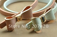 free shipping lovely leather butterfly belt,bowknot leather waistband,10pcs/pack