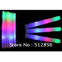 Free shipping EMS - vocal concert,KTV,80/lot led foam stick light up cheering glow foam stick foam glow stick led stick