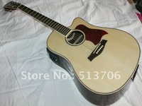 Natural Taylor Acoustic Electric Guitar with EQ High Quality Musical instruments Free Shipping