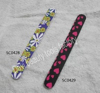 Nail art tools - finger file decorative pattern sandpaper file decorative pattern file