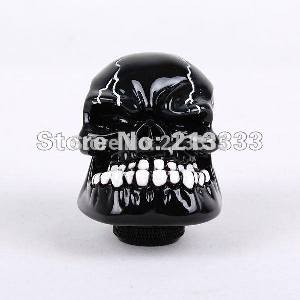 Car Auto Universal Human Skull Stick Shift Gear Shifter Knob black New