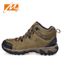 Обувь для туризма Autumn and winter 100% leather outdoor hiking shoes men female high waterproof slip-resistant shoes