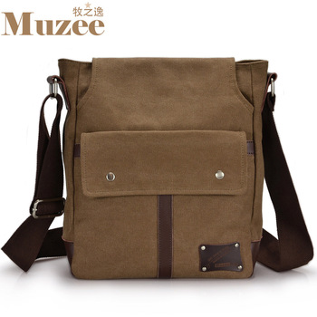 Free Shipping European and American retro casual canvas shoulder Messenger Bag