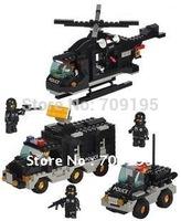 Enlighten Child 2100 DIY Educational Riot SWAT 499 pcs Compatible With Ligo Assembles Particles Block Toys Free Shipping