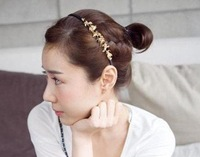 South Korea jewelry fair maiden alloy maple leaves hair hoop hair ornament tire head hoop hairpin