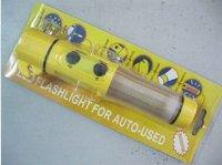 Car lifesaving hammer / multifunction flashlight / warning flash / the safety hammer quadruple / Survival essential