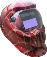 Li battery +solar battery supply spider-man apperance auto darkening welding helmet/welder goggles/weld mask  free shipping