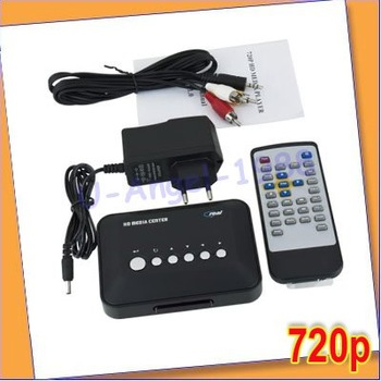 720p HD Multi Media Movie Center RM/RMVB/AVI/MPEG/MP3/MP4 TV Player USB SD/MMC+Free shipping