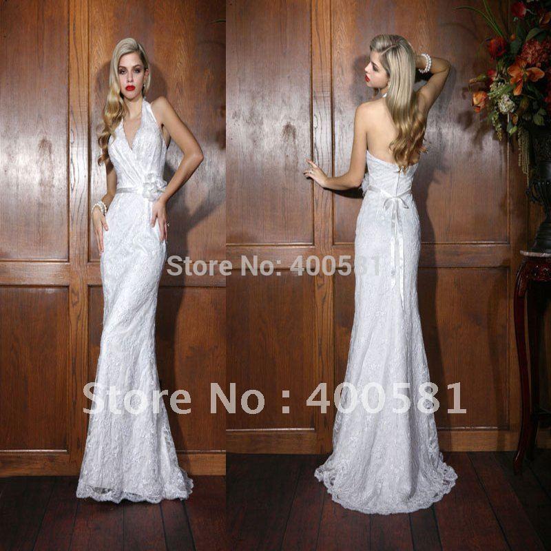 Vintage Lace Halter Neck Wedding Dresses - Mother Of The Bride Dresses