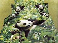 Hot Beautiful 4PC 100% Cotton Comforter Duvet Doona Cover Sets FULL / QUEEN / KING SIZE bedding set 4pcs Animal panda
