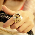 [Mix 15USD] Accessories bohemia rose pearl open ring
