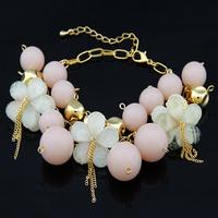 [Mix 15USD] Fashion all-match flower tassel powder beads sweet bracelet