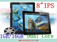 "HK Free Shipping Onda V811 tablet pc 8"" IPS Amlogic Cortex A9 Dual Core 1.5Ghz Android 4.0 ROM 512MB RAM 16GB ROM HDMI WIFI"