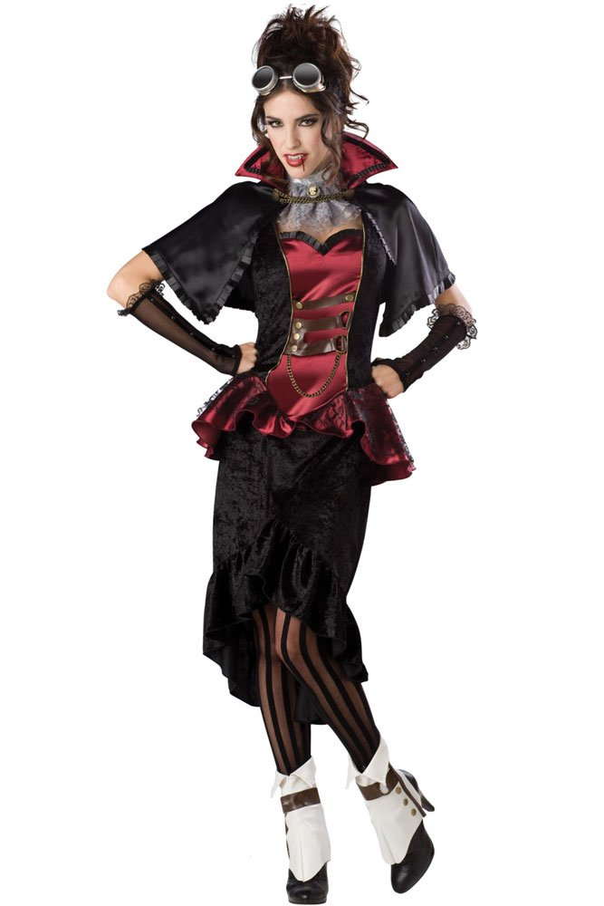 Free shipping! HL8604 Black Devil set 3pcs hot Halloween vampire Costume set(dress+Gloves+ Capelet)(China (Mainland))