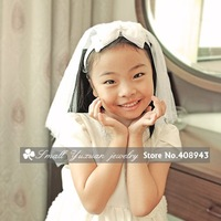 Flower Girl 's Mantilla Wedding Mantilla Children Mantilla Headbands/Hair comb accessories/Wedding veil HS90157