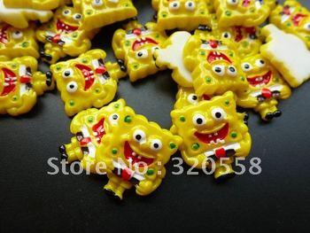 New arrival  SpongeBob so cute  FlatBack Resins Scrapbooking Embellishment 50pcs