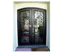 wrought iron double entry doors(China (Mainland))