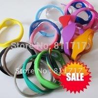 5pcs/lot Free Shipping Power Energy Sport Bracelets Bands Wristbands + Original Box , 33 Colors 5 Sizes For Choose