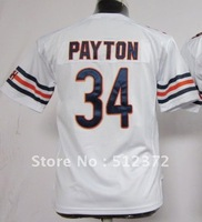 Free Shipping!!! 2012 new style #34 Walter Payton youth kids jersey white