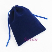 Free Shipping 50 Velvet Gift Bag Jewellery Pouch Blue 12X10cm VB1210