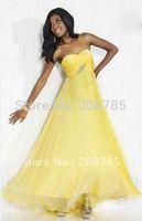 2012   Hot sale Strapless Celebrity Dresses Sheath Fold Cathedral  Rhinestone Beaded  Chiffon