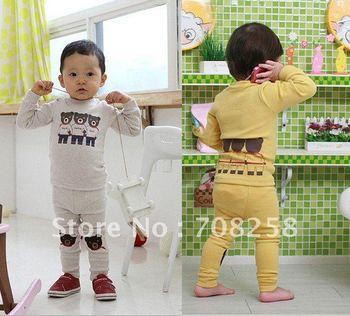 Free Shipping,3sets/lot,Baby Autumn/Winter Pajamas Set Children pajamas, Cartoon Style Three-Bears Sleep Wear, 639#