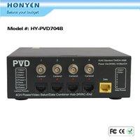 Power Video Data surveillance 4 CH CCTV video balun HY-PV704B