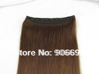 Cheap Hair Extension One Piece Clip In Real Hair Extensions 2# 16/20/24inch 5 clips 80g/piece Accept Custom Order Free Shipping