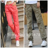 2012 small fresh casual sports pants female casual trousers straight overalls autumn MY608