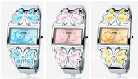 DHL FREE SHIPPING 50pcs/lot KIMIO  ladies luxury citizen designer bracelet watch with Lucky clovers pattern dial K446L