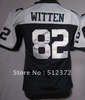 Free Shipping!!! 2012 new style #82 Jason Witten youth kids jersey throwback thanksgiving day blue