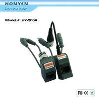 Power Video Audio surveillance CCTV video balun HY-206A
