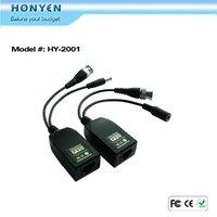 Power Video Surveillance CCTV video balun HY-2001