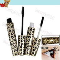 2pcs Magic Leopard Lashes Fiber Mascara Brush Eye Black Long Makeup Eyelash Grower 6258