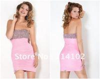 сексуальная игристые бисера Холтер оболочка платье мини-модные тюль партии платья cd9187