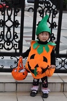 Halloween Costume Children's Pumpkin Costume 4pcs/set