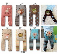 Free shipping, 5pcs infant Pant ,baby leggings ,Cute Animal Design Baby Pants For 6-36 Month, baby trousers