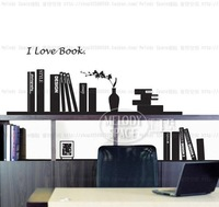I love book Home room Decor Removable Wall Sticker/Decal/Decoration B40140