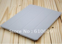 Free shipping many colors Slim Magnetic Smart Cover Hard Case cover for new iPad 3 ipad 2 Best X-mas gift