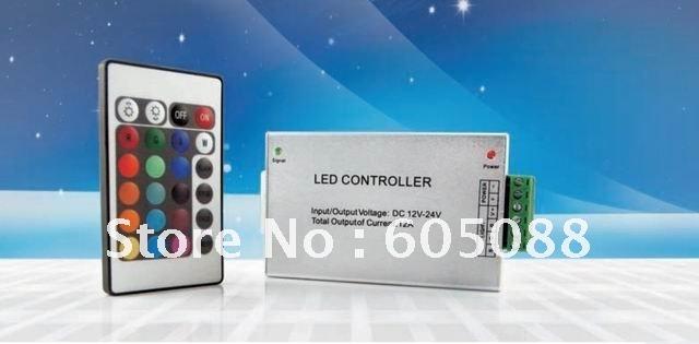 DC12v ALumimum infrared led controller box + 24key remote control,max.load 144w led rgb led lamp,DHL free shipping!(China (Mainland))