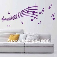 Free shipping DIY Music  wall decal  wall stickers removeable vinyl  room sticker home decoration (100*88cm)