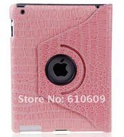 360 Degree Rotary Crocodile leather Case Skin Stand Holder for ipad3 ipad2