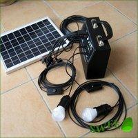 4sets/lot Wholesale 10W 18V Solar Monocrystalline Panel Lighting System/Solar Power System/Solar LED Light/Lamp/7AH 12V battery