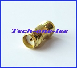 Free shipping SMA female to female straight goldplated coxial connector adapter(China (Mainland))