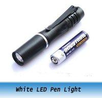 Super brightness Mini LED pen light /pure white 40 lumen Medical pen light  waterproof 10pcs