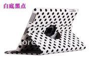 30pcs 360 Rotating Leather Case cover for ipad2 New 3 ipad3 Stand Auto sleep wake fuction