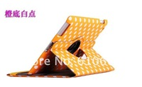 many color 360 Rotating Leather Case cover for ipad2 New 3 ipad3 Stand Auto sleep