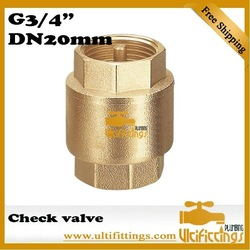"Ultifittings 401 Brass Vertical Check Valve G3/4"" 10 pcs a lot free shipping DN20mm(China (Mainland))"